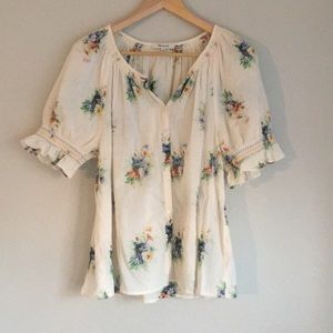Madewell | Floral Blouse Medium